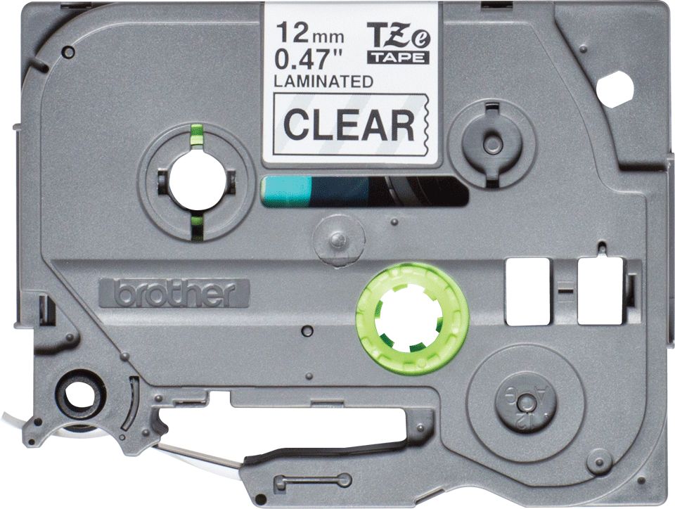Genuine Brother TZe-131S Labelling Tape Cassette – Black on Clear, 12mm wide