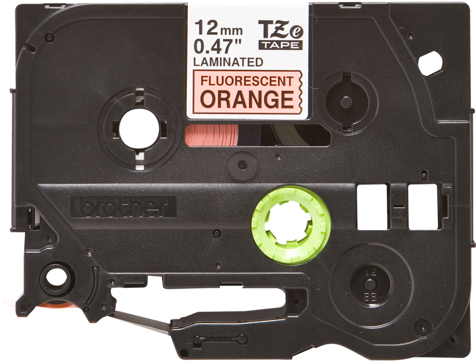Genuine Brother TZe-B31 Labelling Tape Cassette – Fluorescent Orange, 12mm wide 0