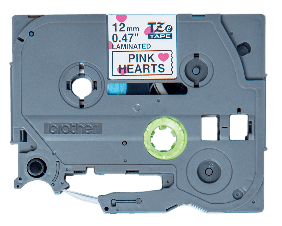 Genuine Brother TZe-MPPH31 Labelling Tape Cassette – Black on Pink Hearts, 12mm wide 0