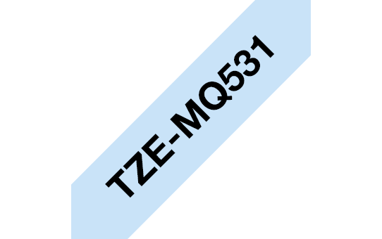 Genuine Brother TZe-MQ531 Labelling Tape Cassette – Black on Pastel Blue, 12mm wide 2