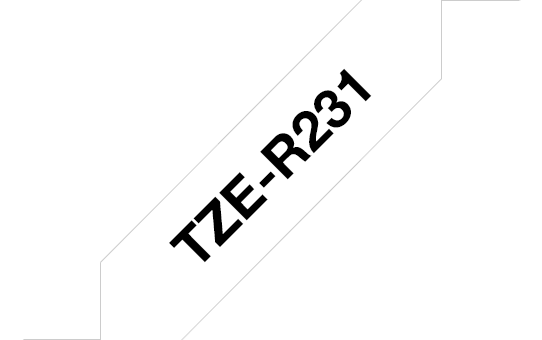 Genuine Brother TZe-R231 Ribbon Tape Cassette – Black on White, 12mm wide