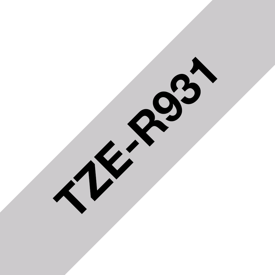 Genuine Brother TZe-R931 Ribbon Tape Cassette – Black on Silver, 12mm wide 3