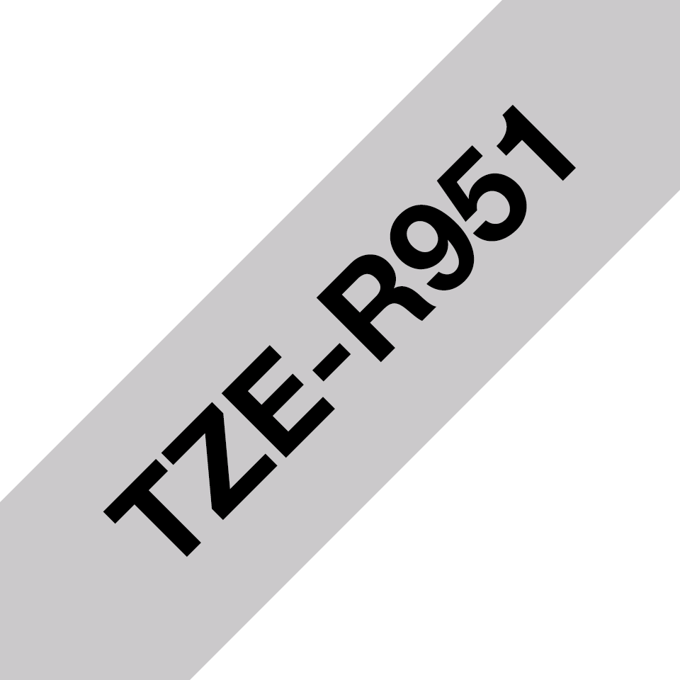 Genuine Brother TZe-R951 Ribbon Tape Cassette – Black on Silver, 24mm wide 3
